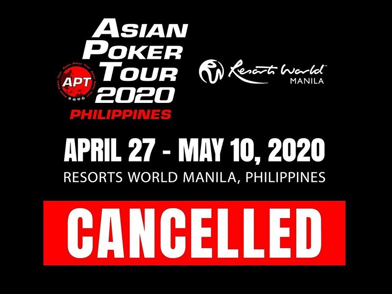 WPT Taiwan Rescheduled; APT Philippines 2020 Cancelled