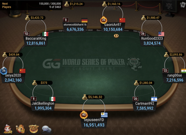 WSOPC Ring Event #14: Deepstack Bounty Hunters- FT