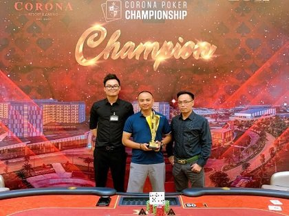 Tran Huy Tien, Julien Tran and Nguyen Hoa Thinh dominate latest events of Corona Poker Championship in Vietnam