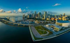 Panorama Of City And Sky In Miami Florida 4 240x150