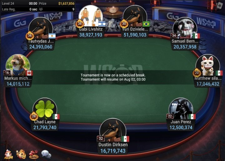 Final Table: WSOP #42: $400 PLOSSUS [ $1M GTD ]
