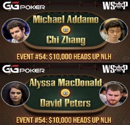 Final Four In WSOP 54 10000 Heads Up No Limit Hold'em Championship