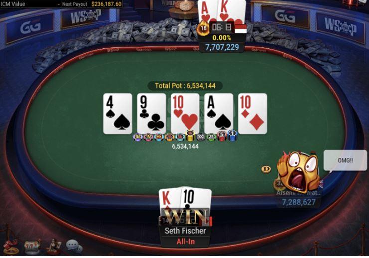 WSOP 56 1500 GGMasters WSOP Edition High Roller Set Of 10s For Winner Fischer