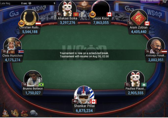 WSOP 70 25000 NLH POKER PLAYER CHAMPIONSHIP Final Table 1