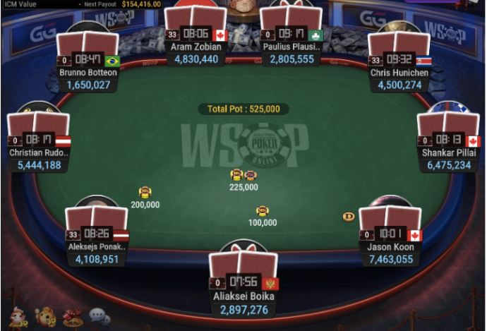 WSOP 70 25K NLH POKER PLAYERS CHAMPIONSHIP Final Table