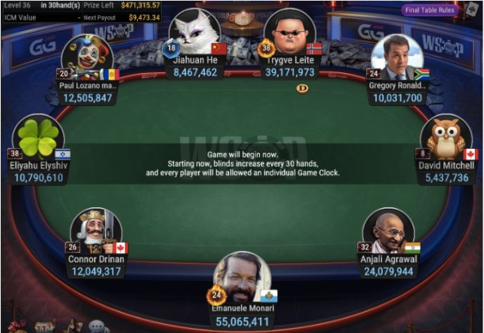 WSOP 75 300 Double Stack No Limit Hold'em Final Table