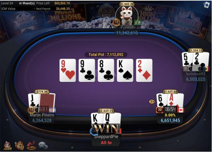 WSOP Side Event 210 Bounty Turbo 6 Handed 1