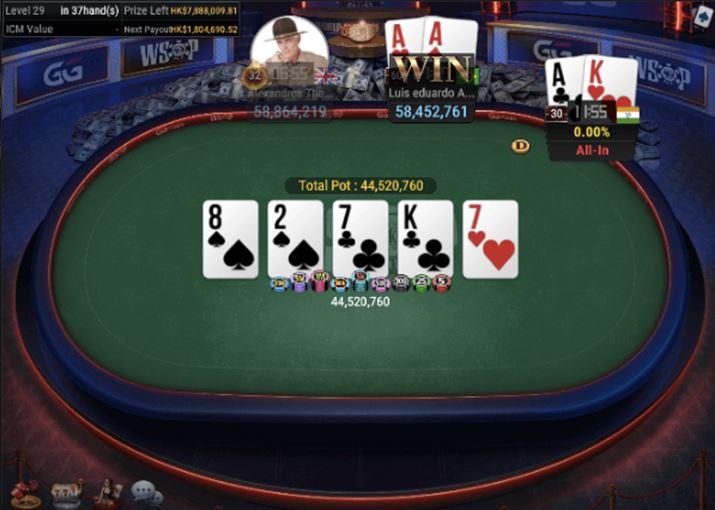 WSOP55 HK 8000 NLH Asia Championship Pocket Aces For Winner Garla