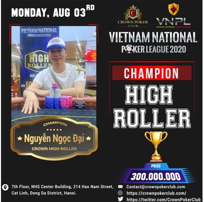 Vietnam National Poker League High Roller Champion