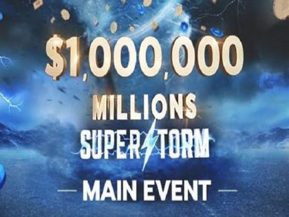 888poker's Millions Superstorm back in full swing; $8 million in guarantees with $1,000,000 Main Event