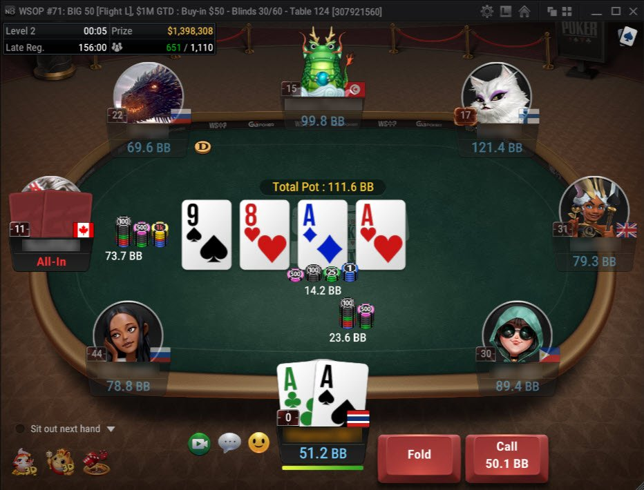 Natty8 Table WSOP