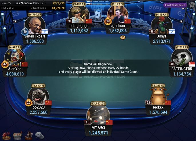 WPT Trophy 7 Zodiac Shooting Star Bounty Final Table