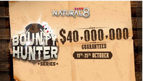 Natural8: Bounty Hunter Series, WPT Live Event Sponsorships, $4.3M in giveaways this October