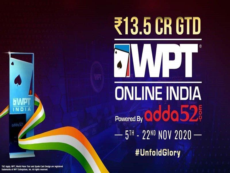 WPT Online India 2020 Schedule