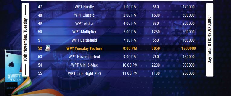 Wptindia Sched2