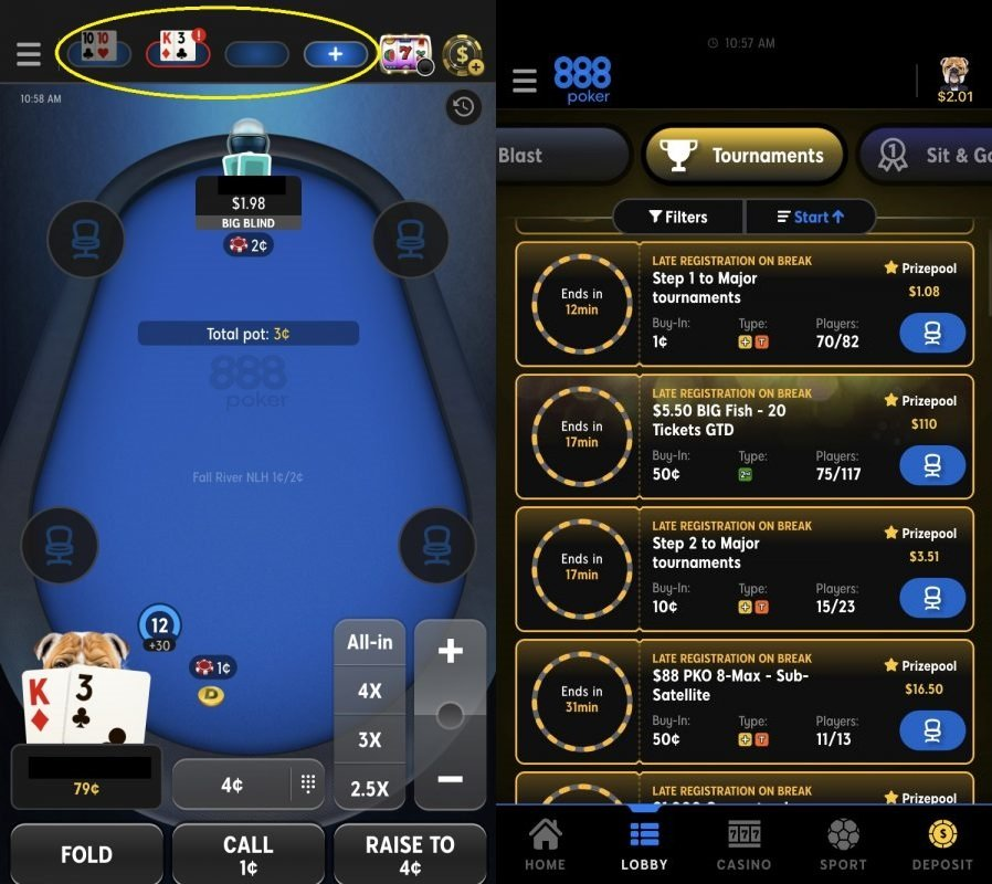 888poker unveils major new mobile update