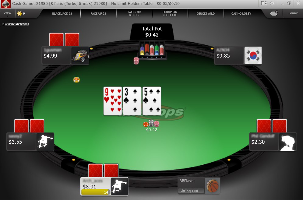 Intertops Cash Game Table