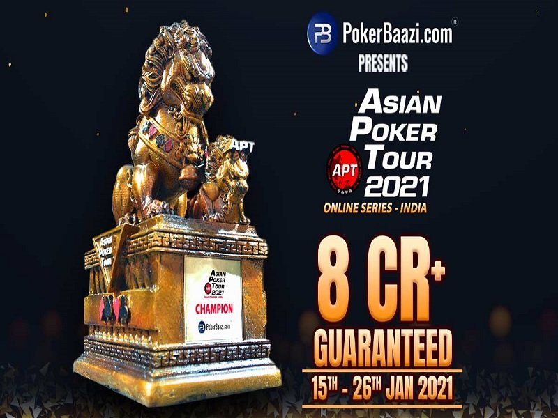 Asian Poker Tour announces 2021 season opener with over US$ 1 Million guaranteed at India exclusive online site PokerBaazi