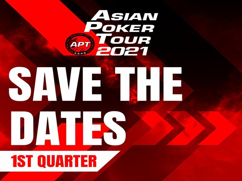 The Asian Poker Tour releases schedule for early 2021 – three live festivals and one online series in four different countries