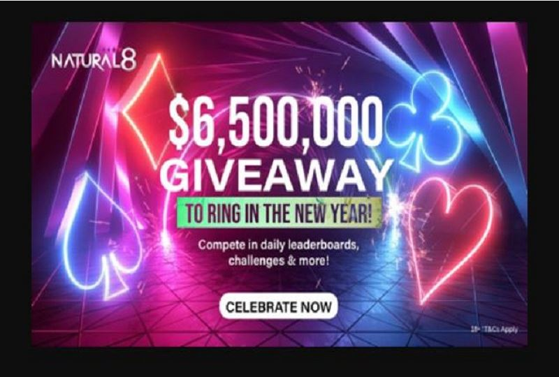 Natural8 greets its players with $6,500,000 in giveaway promotions to start the year