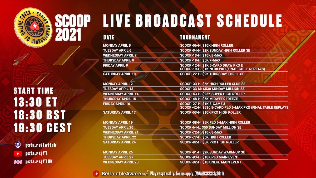 SCOOP Livestream Schedule 1